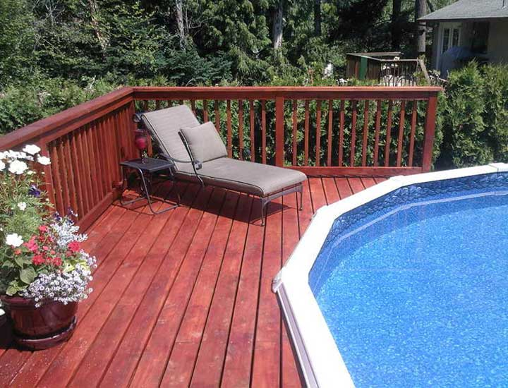 40 uniquely awesome above ground pools with decks diy for Above ground pool decks photos