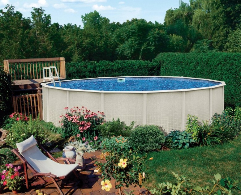 40 uniquely awesome above ground pools with decks for Large above ground swimming pools