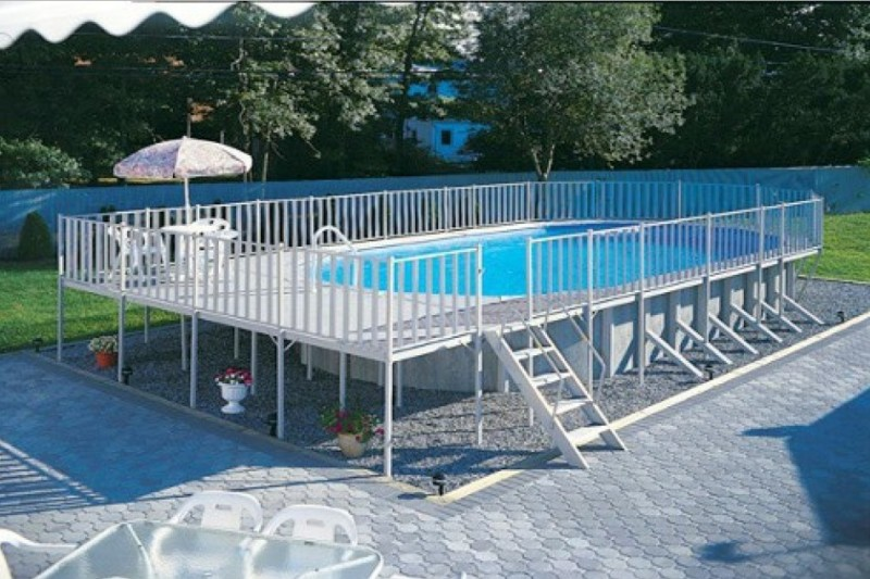 40 uniquely awesome above ground pools with decks for In ground swimming pool contractors