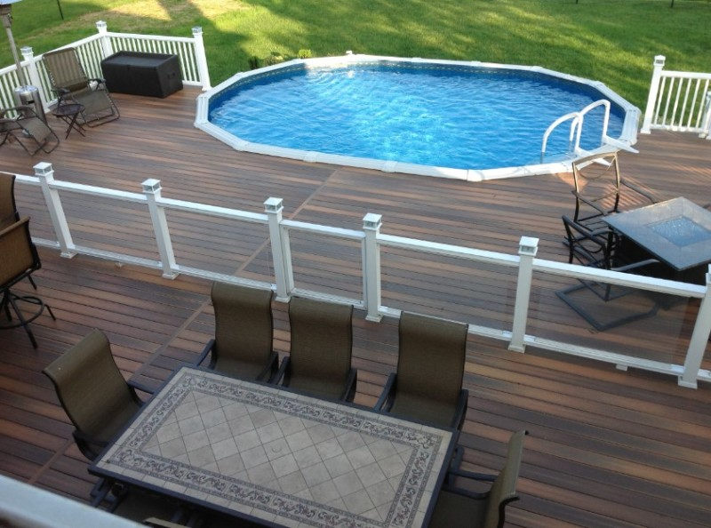 40 uniquely awesome above ground pools with decks - Above ground composite pool deck ...