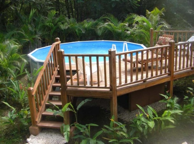 40 uniquely awesome above ground pools with decks - How to build an above ground swimming pool ...