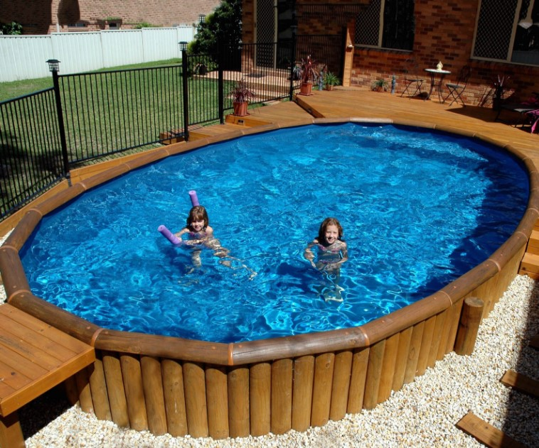 Awesome above ground wooden pool deck ideas