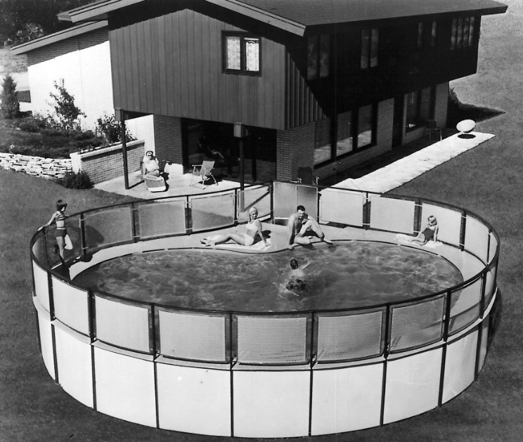 old vintage above ground pool style