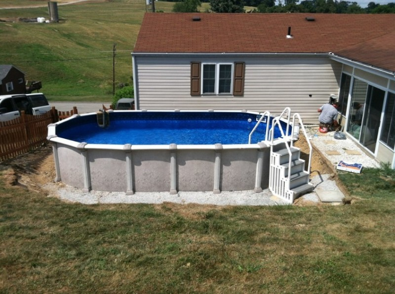 Above ground pool installation cost and how to install for Swimming pool installation cost
