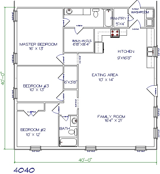 30 barndominium floor plans for different purpose for 40x40 2 story house plans