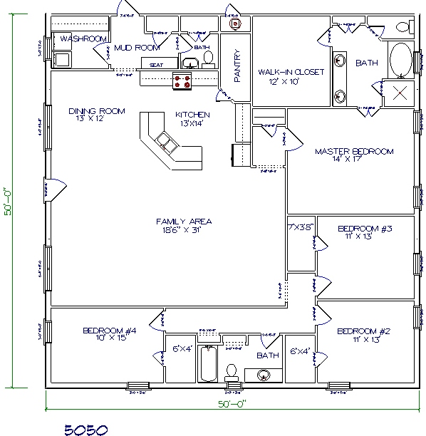 Home Plan And Elevation 2000 Sq Ft further Porch Style Home Plans Around 2000 Sq Feet additionally 2 Bedroom Mobile Homes additionally Three Bedrooms In 1200 Square Feet besides Lewisburg Ranch 2808. on house plans under 2000 sq ft with 4 br