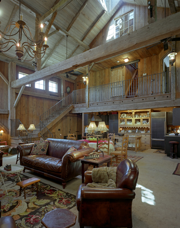 13 awesome barndominium designs to inspire you for Living room structure design