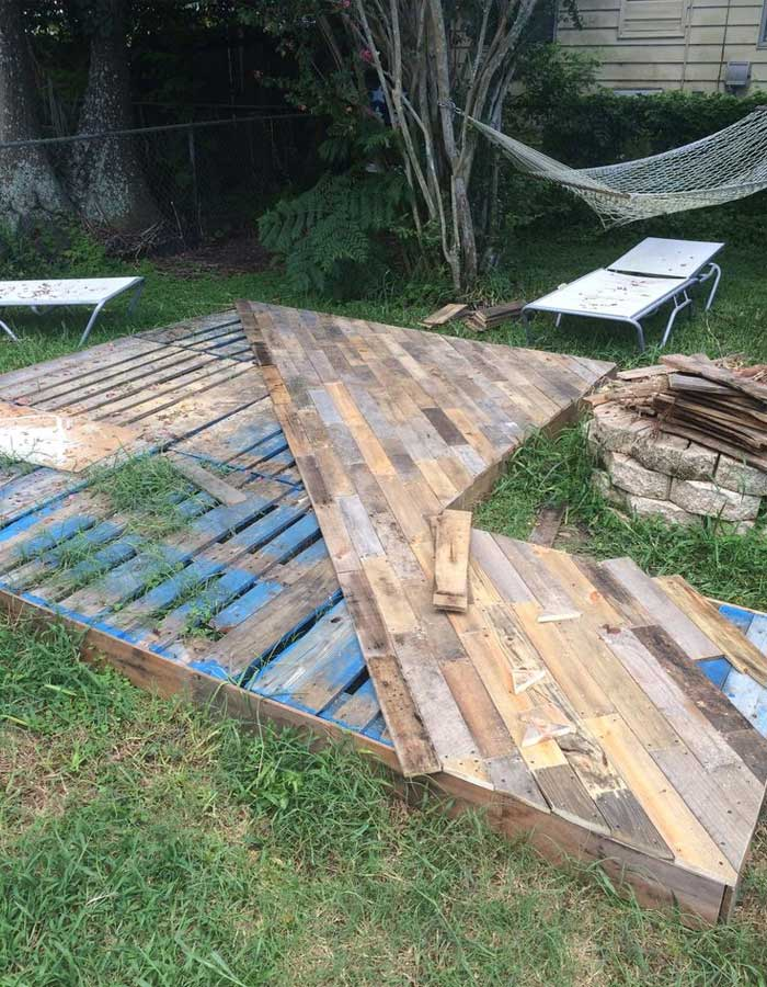 Awesome Patio Deck Out Of pallets