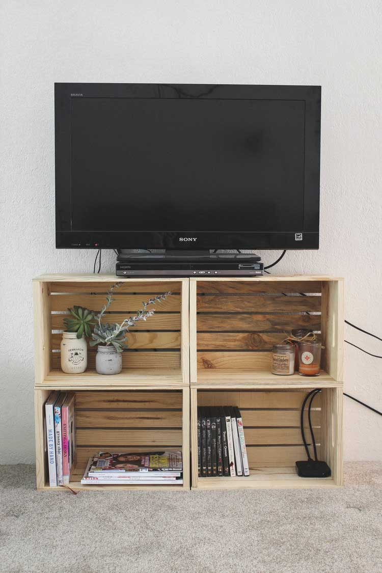 Bedroom Tv Stand Designs : Creative diy tv stand ideas for your room interior