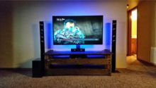 Beautiful DIY TV Stand with Multi Color Led