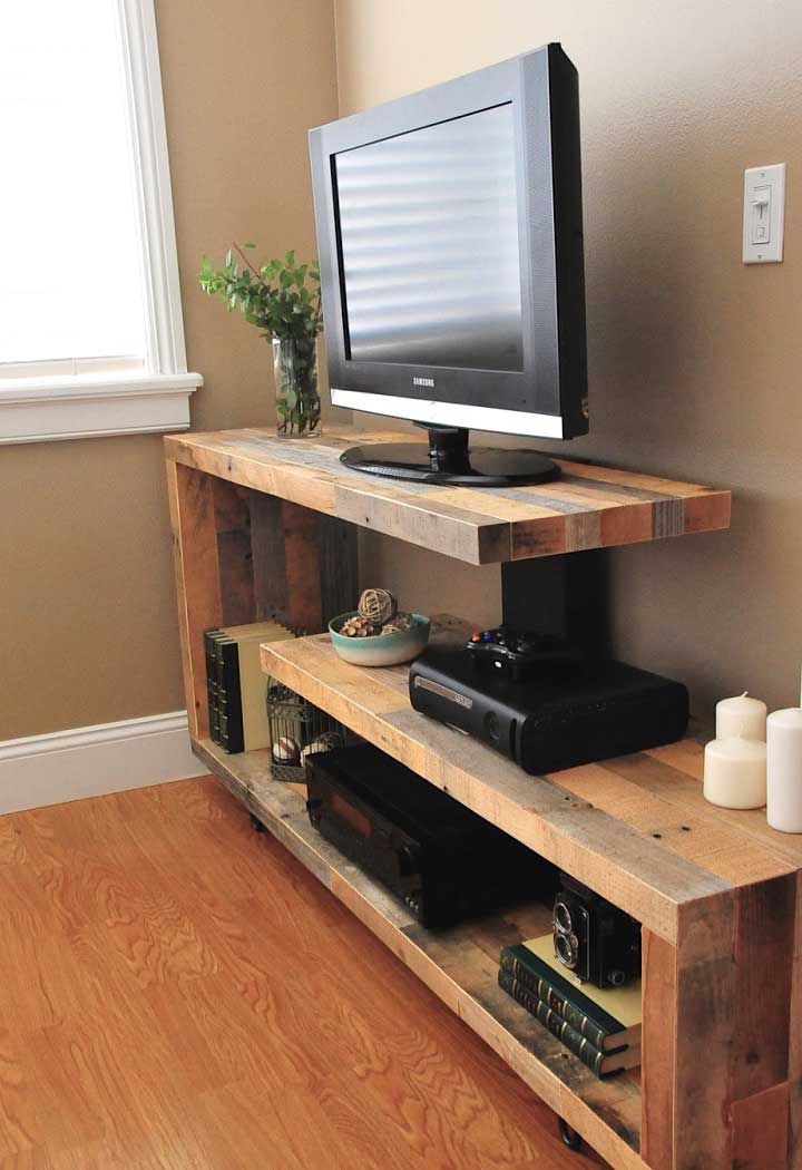 50 creative diy tv stand ideas for your room interior for Table tv design
