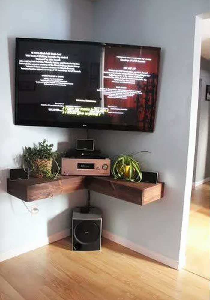 50 creative diy tv stand ideas for your room interior for Wall mounted tv cabinet design ideas