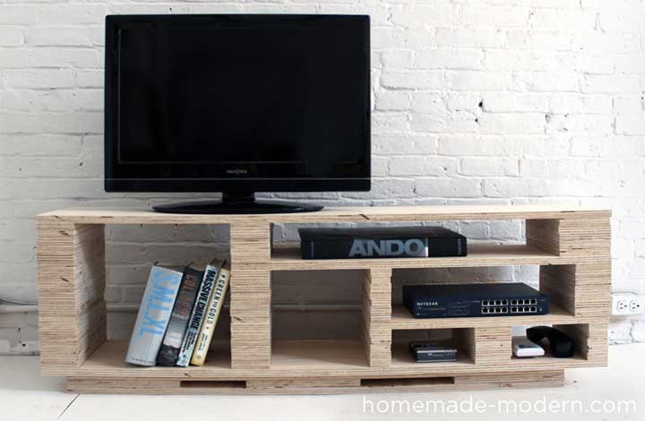 50 creative diy tv stand ideas for your room interior for Block tv stand