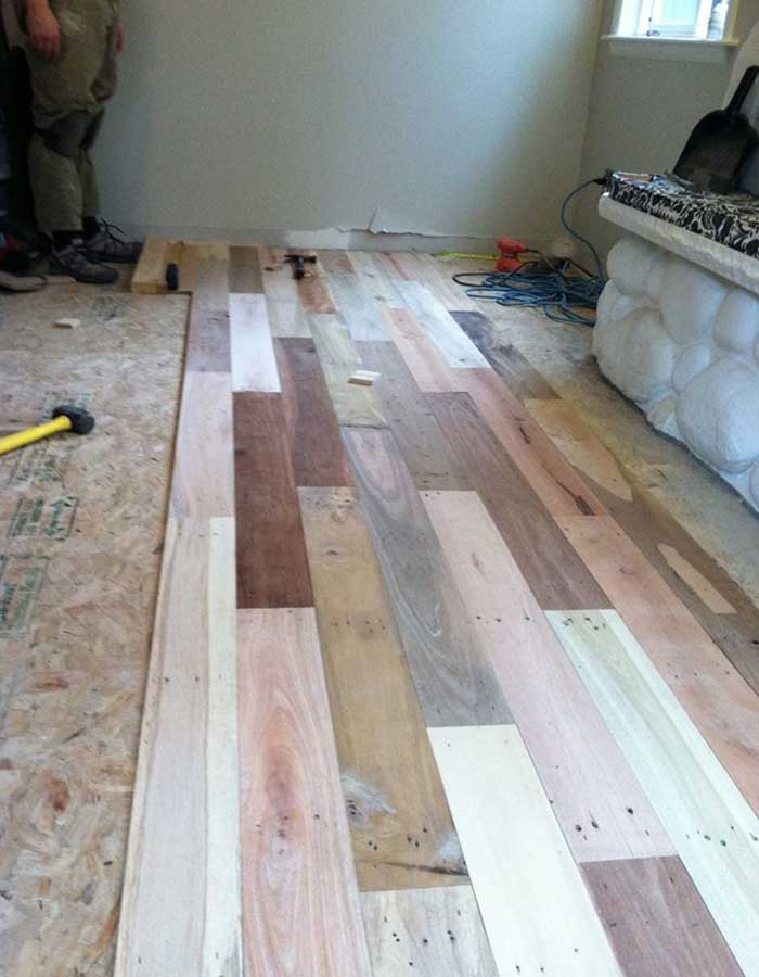 Easy To Build Wood Pallet Flooring At No Cost Diy Design