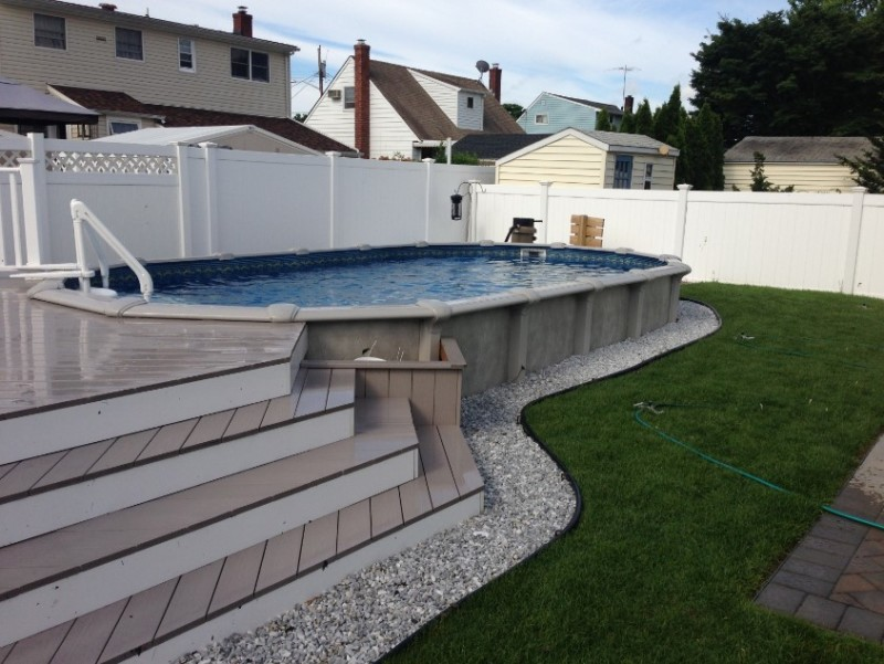 12x24 above ground pool with deck