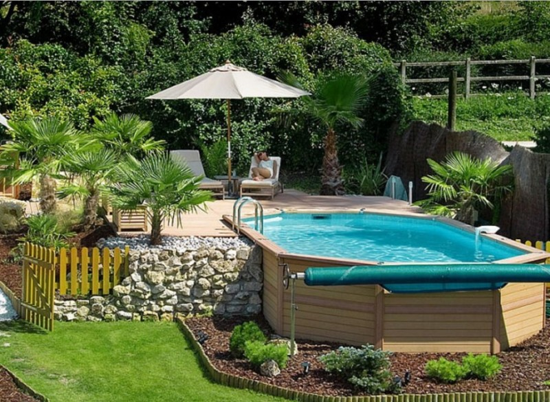 Above Ground Pool Privacy Screen 40 uniquely awesome above ground pools with decks - diy design & decor