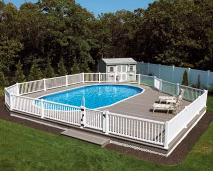 Backyard Haven Deck. Private Above Ground Pool ...
