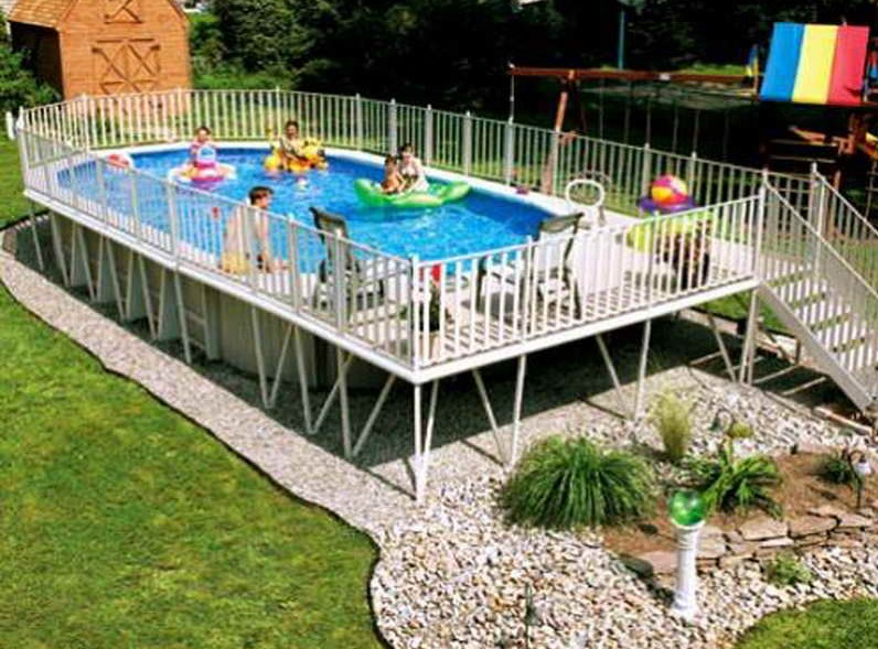 Uniquely Awesome Above Ground Pools With Decks Diy Design Decor
