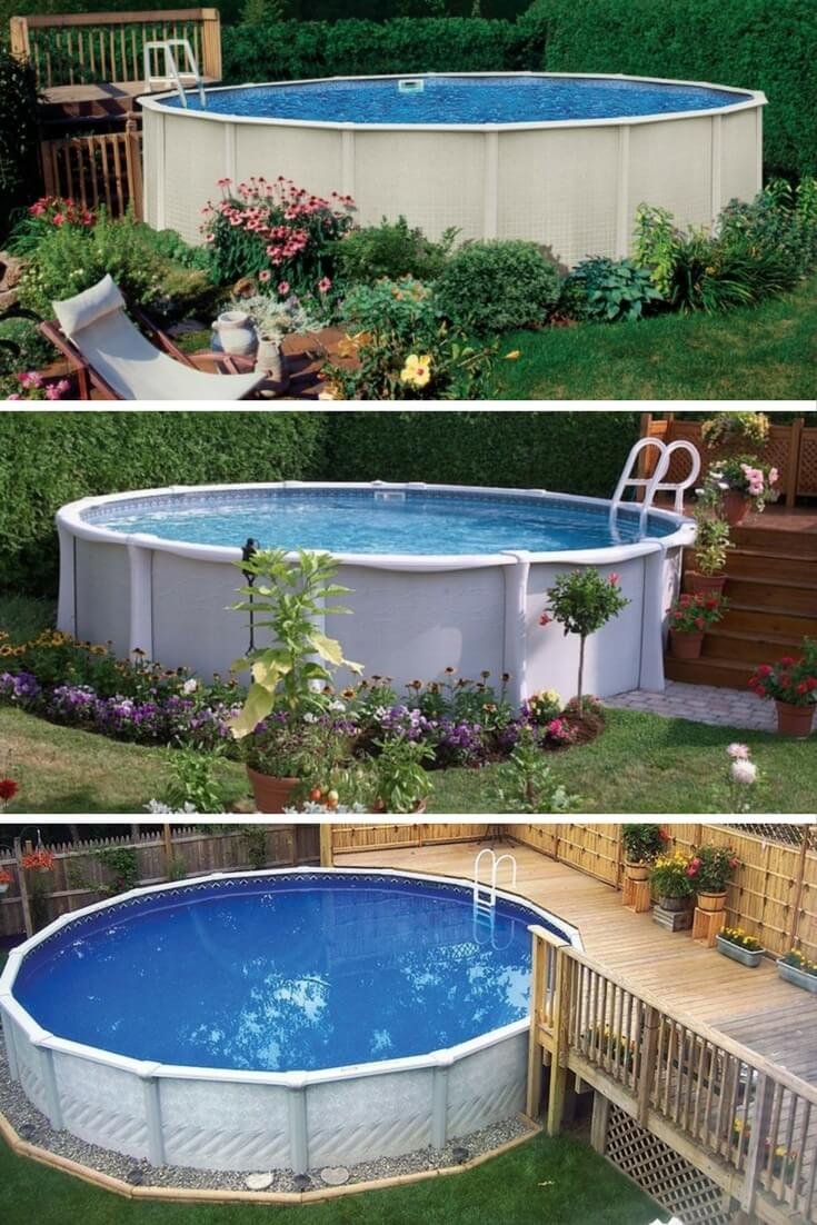 40 uniquely awesome above ground pools with decks for Above ground pools