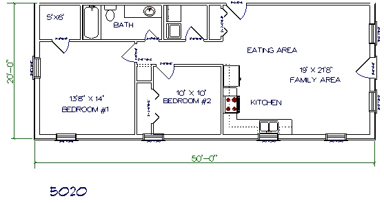Barndominium Floor Plans on Apartment 2 Bedroom House Plans