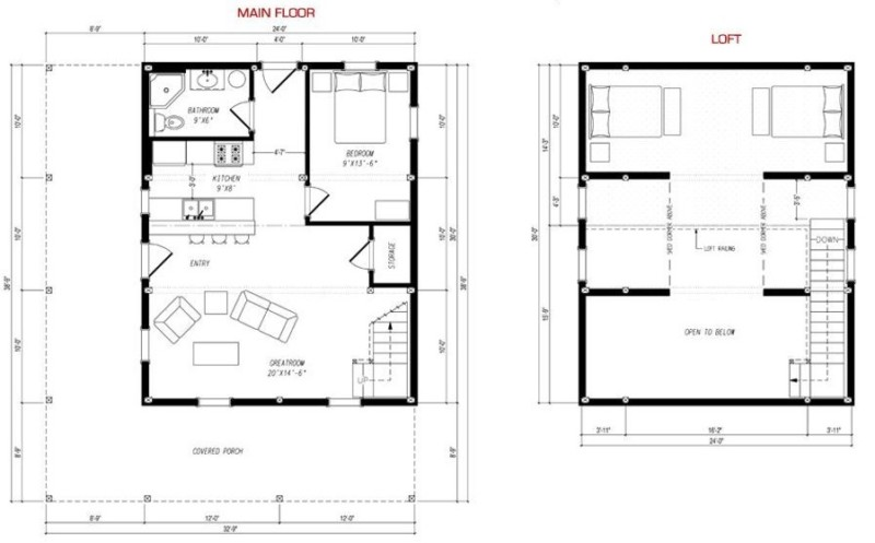 30 barndominium floor plans for different purpose for Two story loft floor plans
