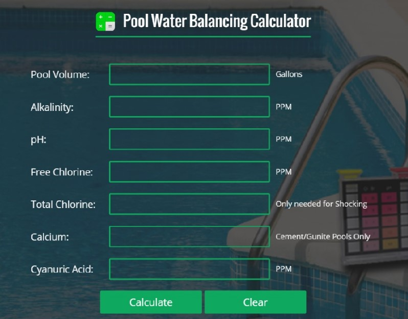 Pool Shock Calculator helps you keep calculate your pool's chemical needs