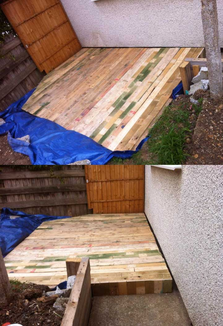 Outdoor Pallet Flooring or Decks