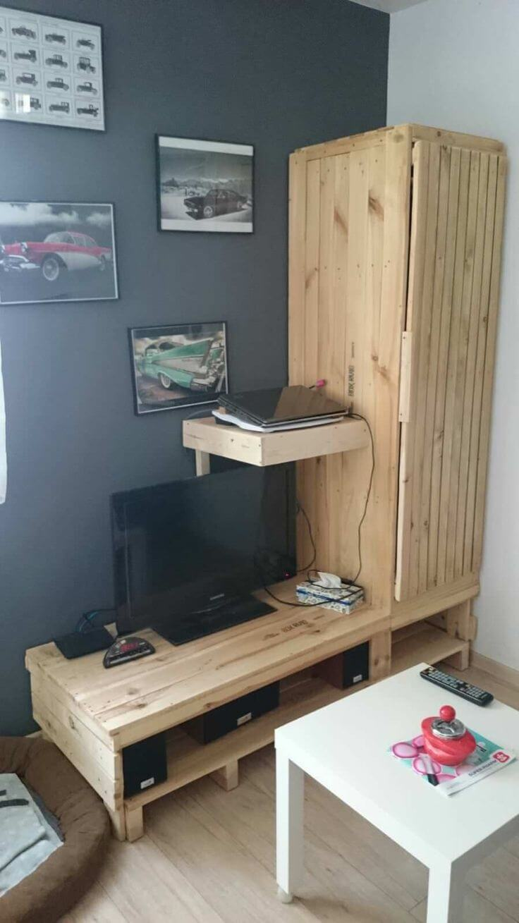 how to build easy palett tv stand