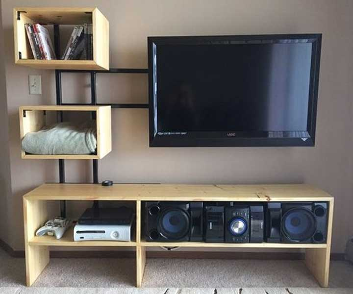 Floating Custom TV Stand Ideas