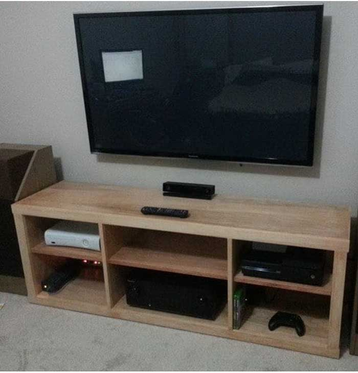 Lcd Tv Stand Designs Wooden : 50 creative diy tv stand ideas for your room interior diy design