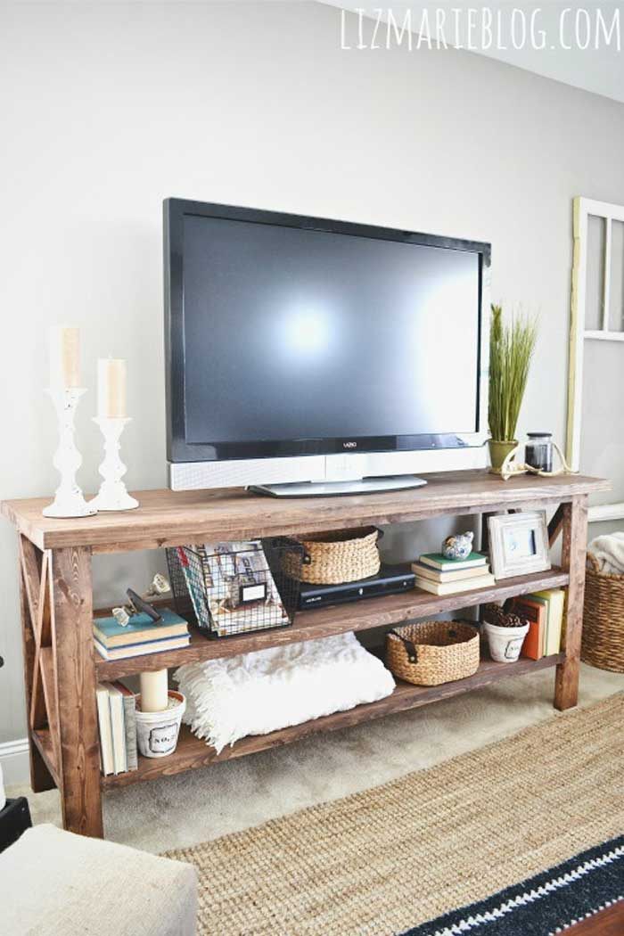 DIY Rustic TV Console Ideas