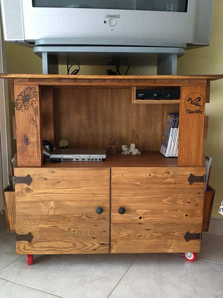 solid brown wood tv stand ideas