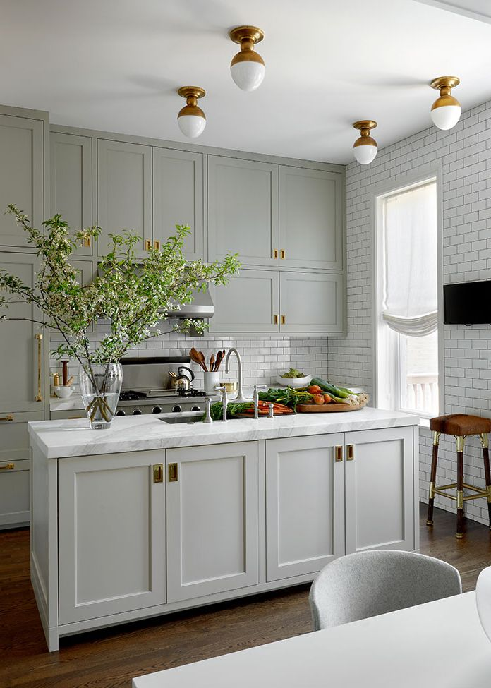 flush mount kitchen lighting design by lisa gutow - Kitchen Lighting Design Ideas