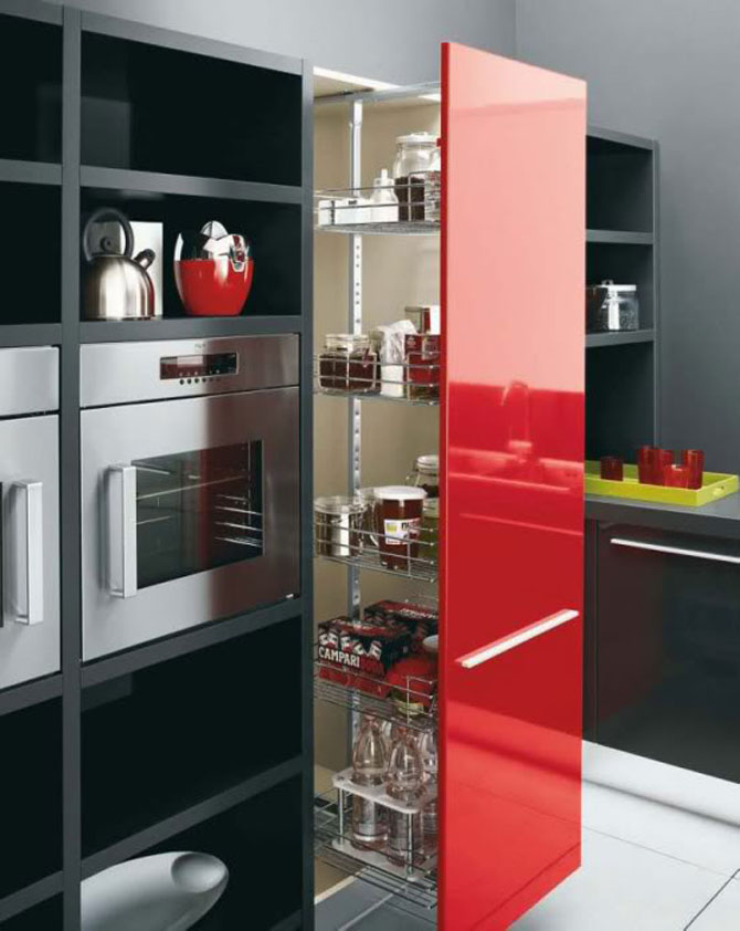 Well Contemporary Kitchen Cabinet Design