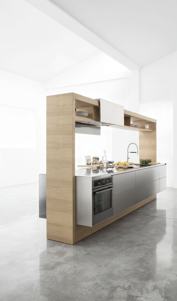 modern freestanding small modular kitchen