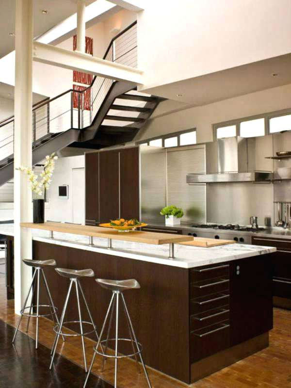 single wall kitchen with island design