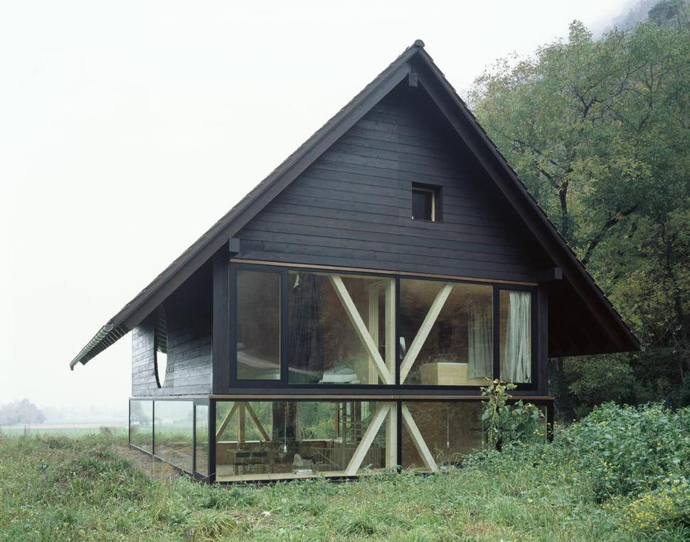 barn home made of glass