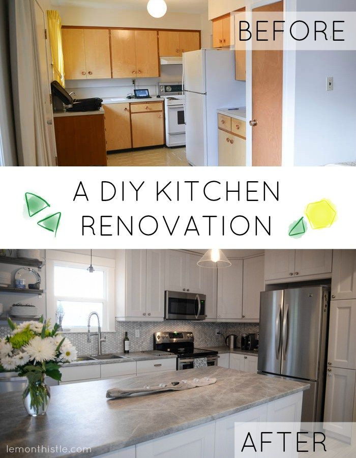 20 Small Kitchen Renovations Before And After Diy