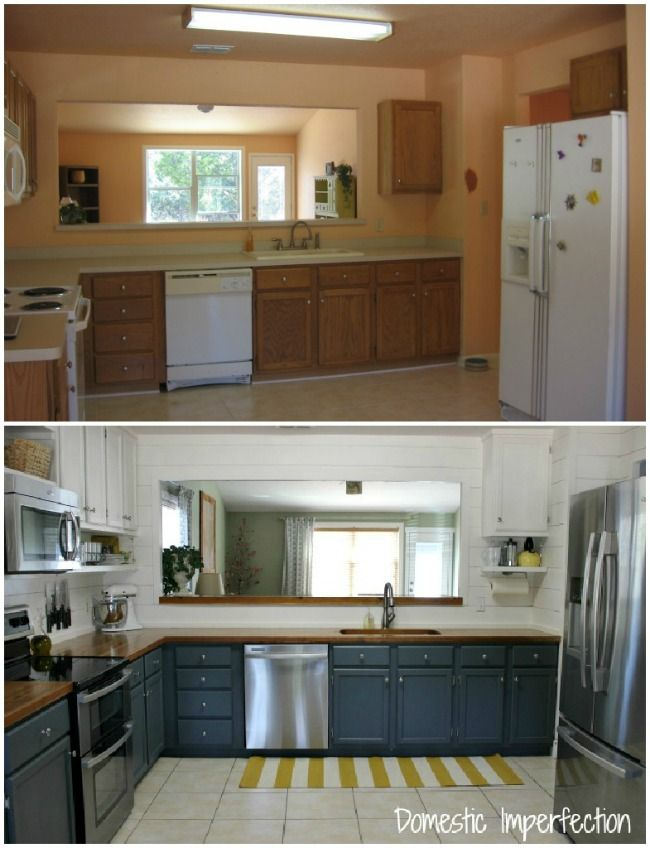 20 small kitchen renovations before and after diy for Diy small kitchen remodel