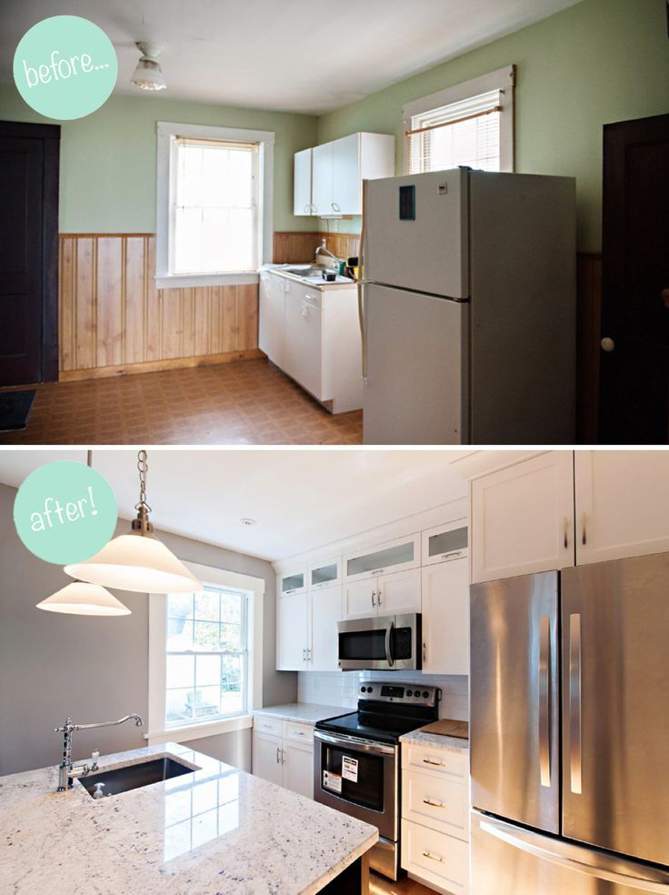 20+ Small Kitchen Renovations Before and After - DIY Design & Decor
