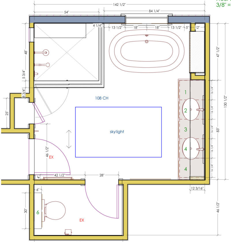 Master Bathroom Layouts With Walk In Shower
