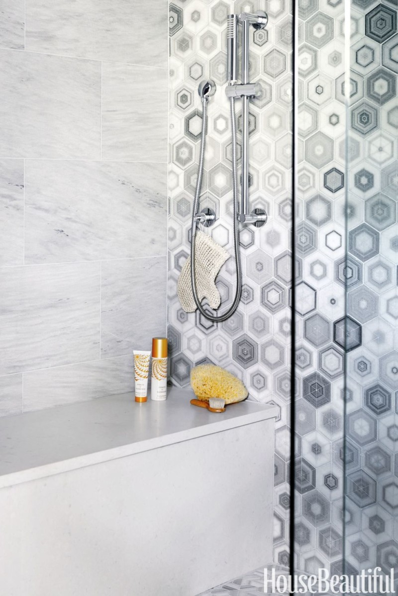 Honeycomb bathroom tiles