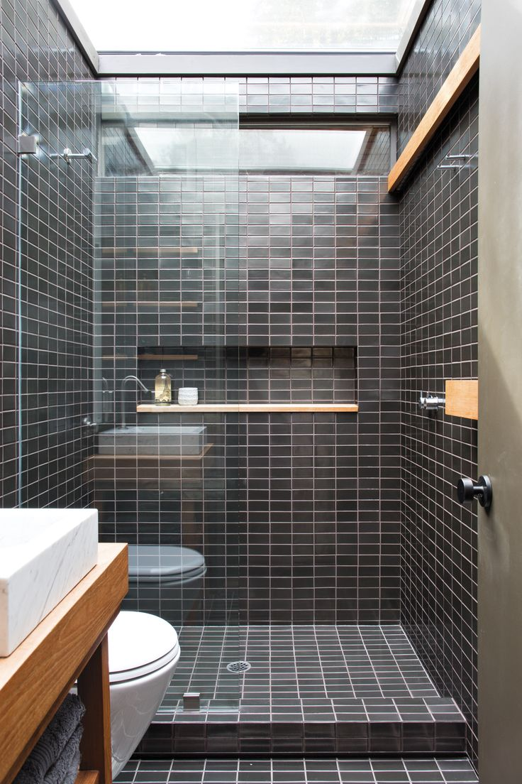 Small Black And White Tile Bathroom