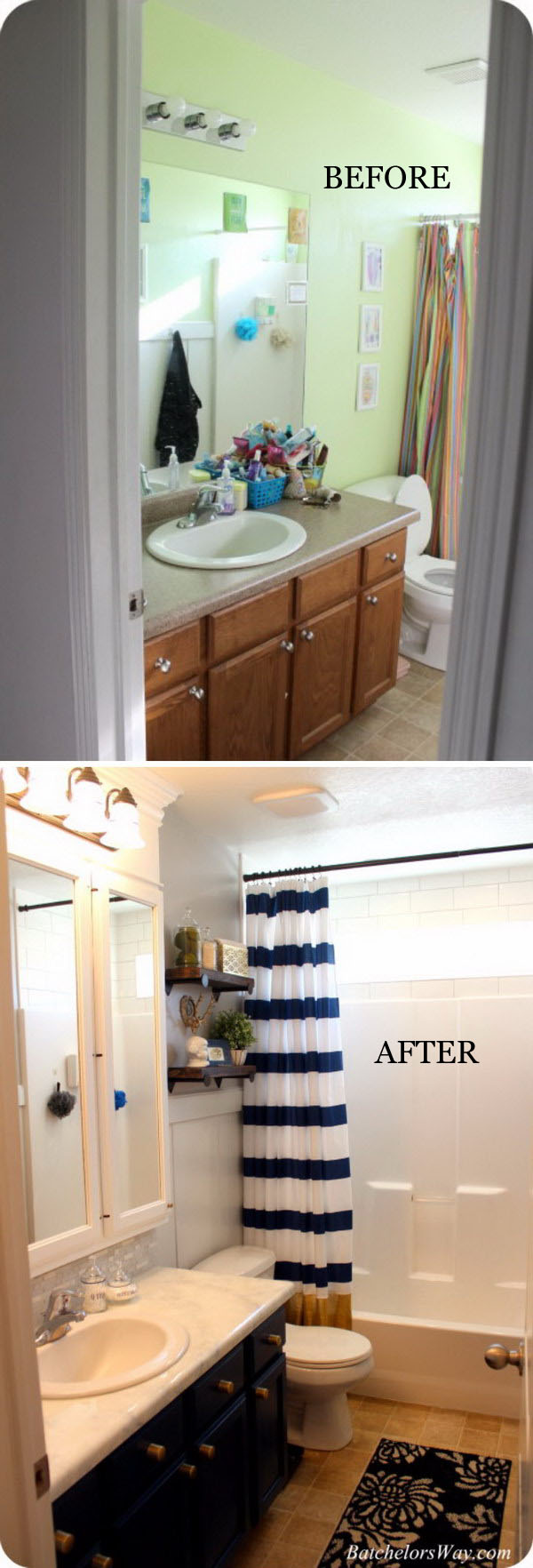 33 inspirational small bathroom remodel before and after diy design decor Small modern bathroom on a budget