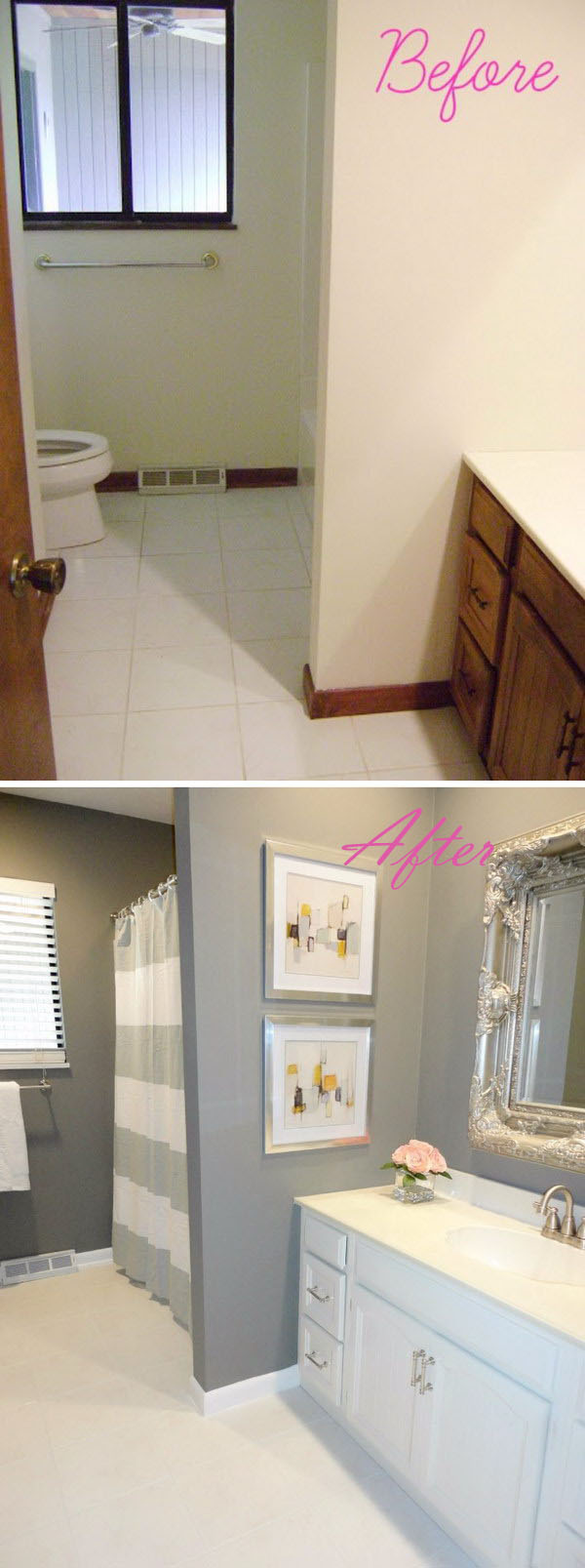 DIY Small Bathroom Remodel on a Budget