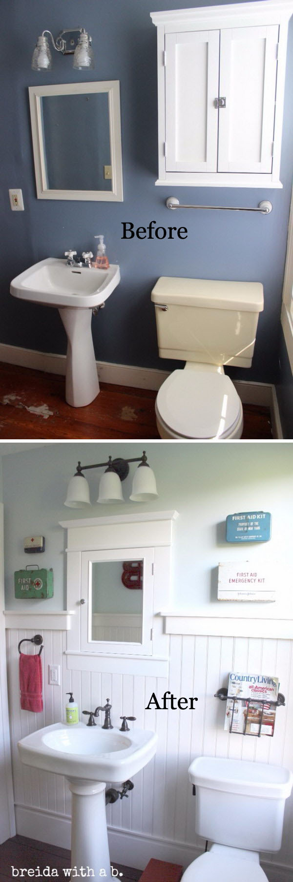 Farmhouse Small Bathroom Renovation Before After