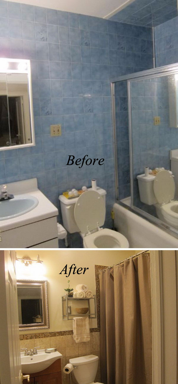 33 inspirational small bathroom remodel before and after - Diy bathroom remodel before and after ...