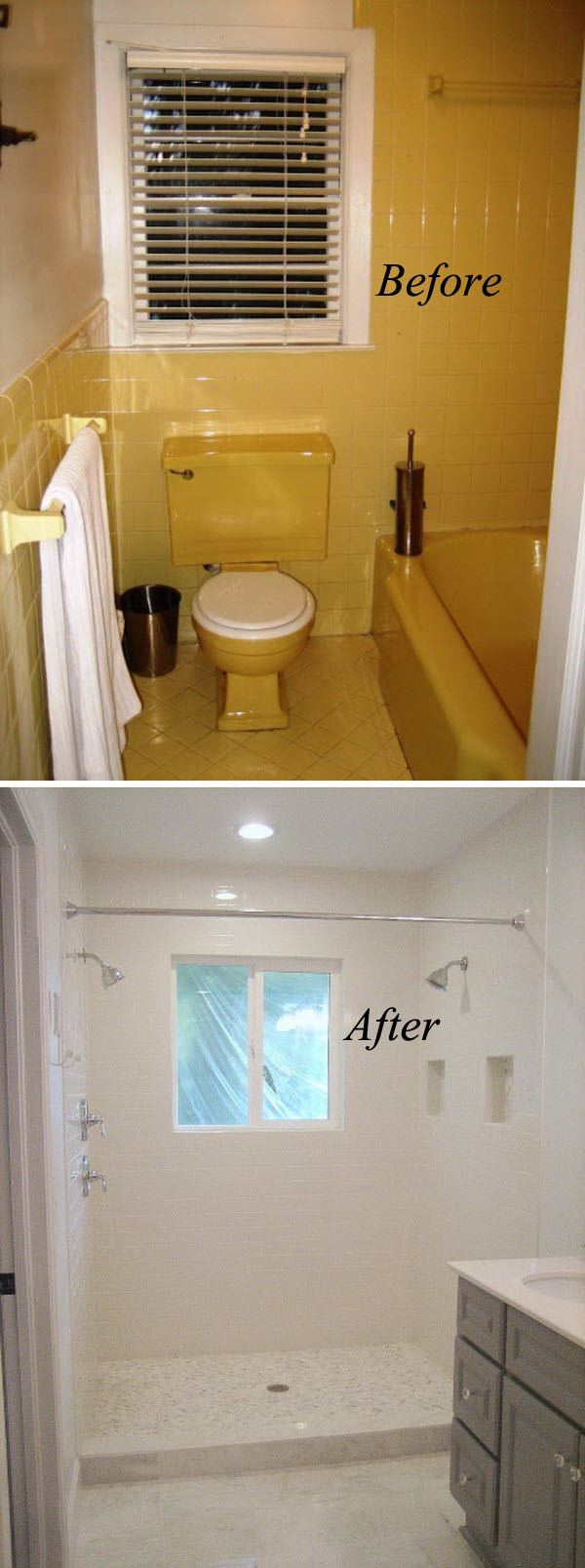 33 inspirational small bathroom remodel before and after - Small bathroom remodel with tub ...