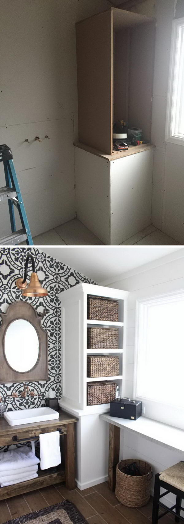 Modern Farmhouse Small Bathroom Renovation Before After