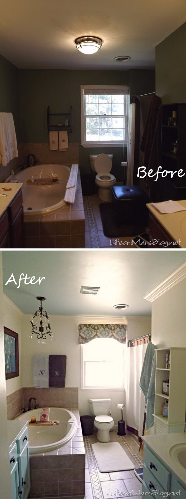 Small Master Bathroom Makeover Before After
